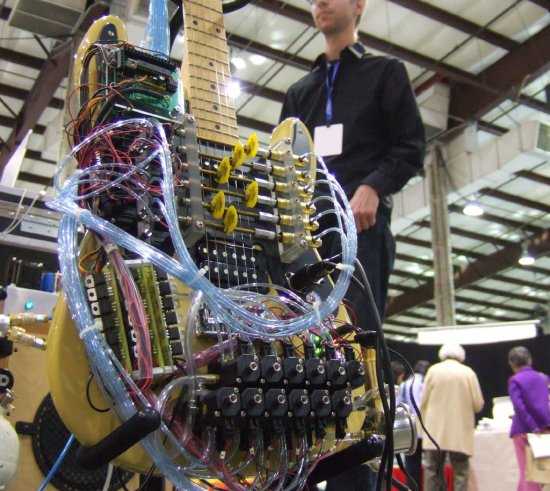 The Real Compressed Air Guitar