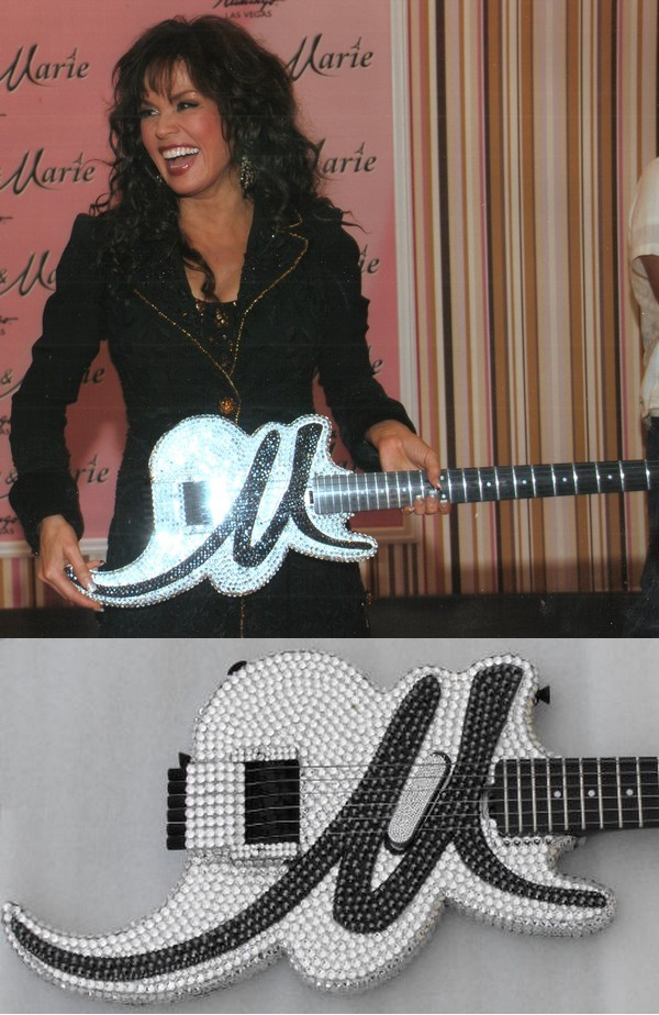 Marie Osmond's Bling Guitar