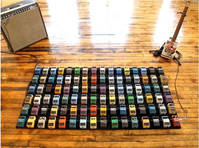 96 guitar pedals in this gigantic pedalboard guitar fail. Black Bedroom Furniture Sets. Home Design Ideas