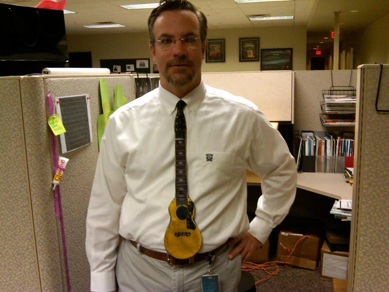 Guitar Win… Tie Fail… Or the Other Way Around?