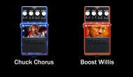 New Boss Pedals : The Chuck Chorus & The Boost Willis !!