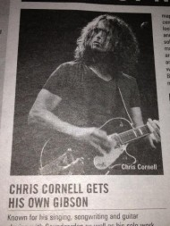 Chris Cornell gets Gibson Endorsement