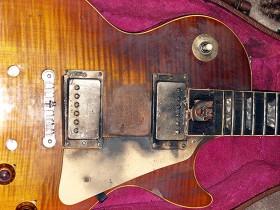 A Gibson Les Paul Struck by Lightning