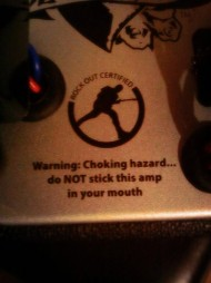 Warning : Do Not Stick This Amp In Your Mouth