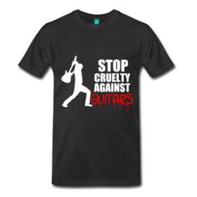 """Stop Cruelty Against Guitars"" New T-shirts & Mugs [Guitar Fail Shop News]"