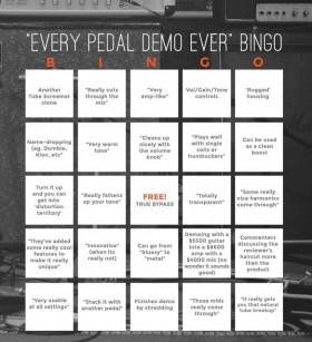 Pedal Demo Bingo