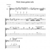 Nick Jonas Guitar Solo Tablature !