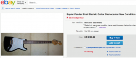 Squier Strat in Brand New Condition…